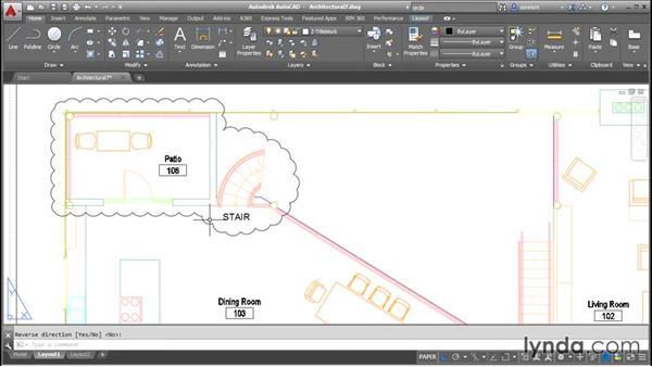Drawing and editing revision clouds: AutoCAD 2016 Essential Training