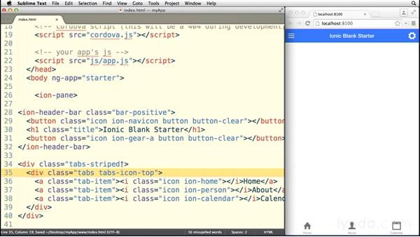 Working with tabs: Building a Mobile App with AngularJS 1 and Ionic