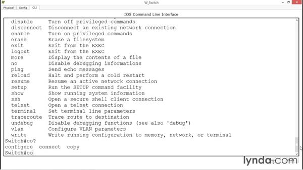 Using the built-in help: Up and Running with Cisco CLI Switch Configuration