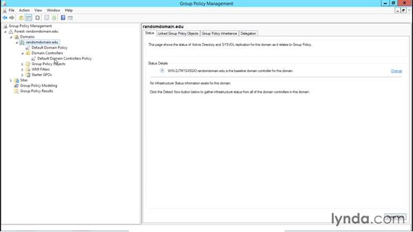Using the management console with group policies: Creating and Managing Group Policy for Windows Server 2012