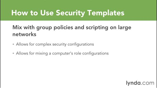 Using Security Templates To Create Gpos