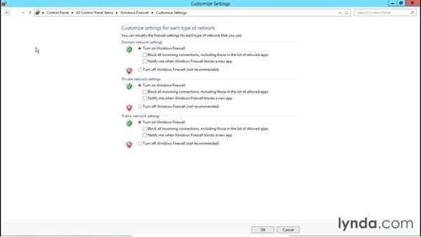 Basic Windows Firewall settings: Creating and Managing Group Policy for Windows Server 2012