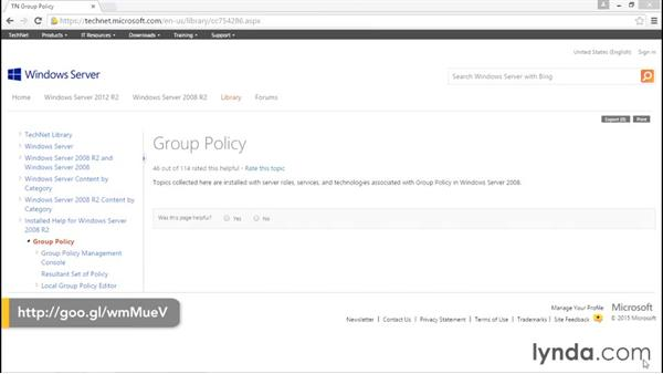 Next steps: Creating and Managing Group Policy for Windows Server 2012