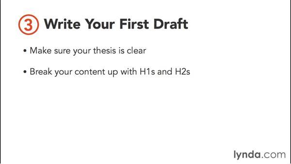 Writing and editing: Content Marketing Fundamentals