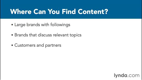 Curating content: Content Marketing Fundamentals