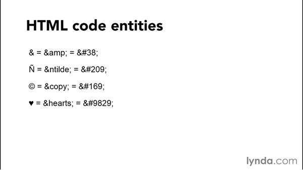Coding special characters dependably with entities: Productivity Tips for Web Designers