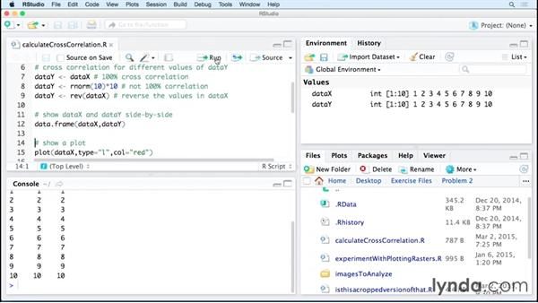 Showing successful cross-correlation: Code Clinic: R