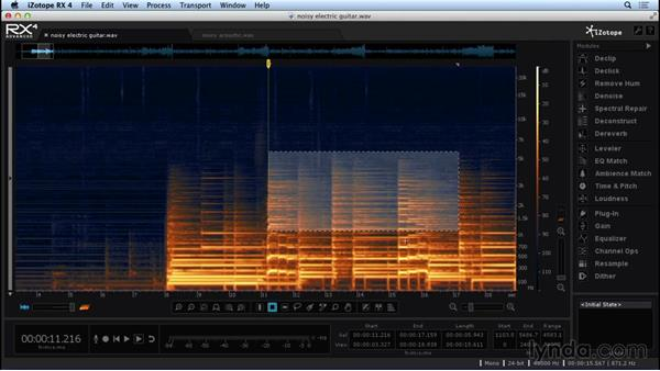 Navigating the workspace: Repairing and Enhancing Audio with iZotope RX 4