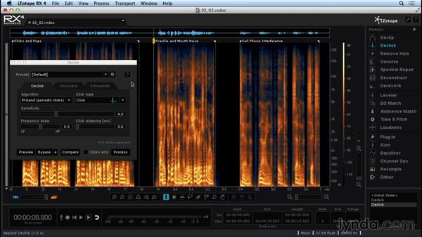 Cleaning audio with Declick and Decrackle: Repairing and Enhancing Audio with iZotope RX 4