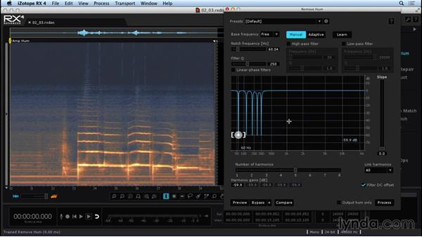 Removing hum and line noise: Repairing and Enhancing Audio with iZotope RX 4