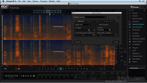 Isolating and cleaning up noise with Spectral Repair: Repairing and Enhancing Audio with iZotope RX 4