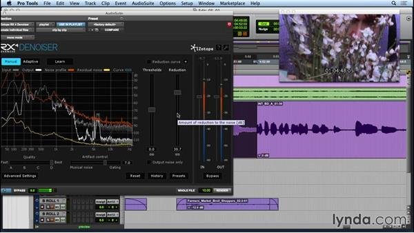 Cleaning up field audio with Broadband Denoiser: Repairing and Enhancing Audio with iZotope RX 4