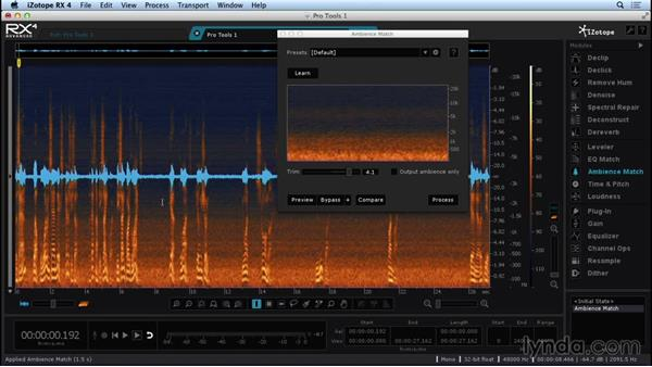 Working with Ambience Match on VO: Repairing and Enhancing Audio with iZotope RX 4