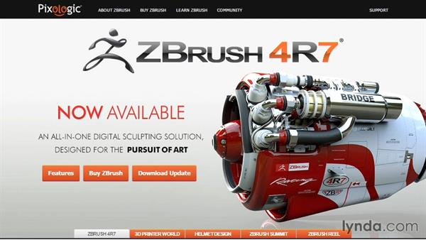Update for ZBrush 4R7: ZBrush 4 Essential Training