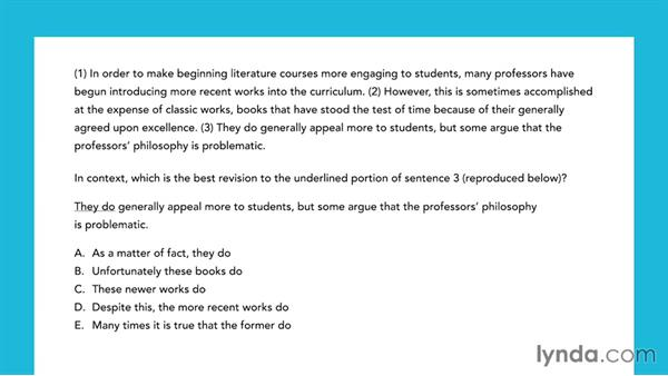 Question type: Improving paragraphs: SAT Prep: Getting Started