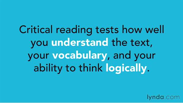Overview of SAT critical reading questions: SAT Prep: Getting Started