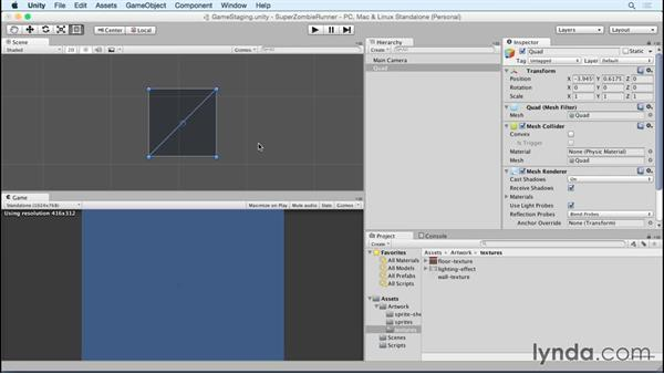 Building a repeating background: Unity 5 2D Essential Training (2015)