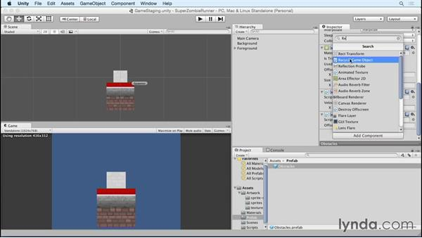 Recycling game objects: Unity 5 2D Essential Training (2015)