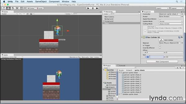 Building the player: Unity 5 2D Essential Training (2015)