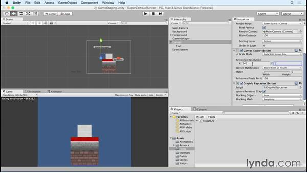 Working with fonts: Unity 5 2D Essential Training (2015)