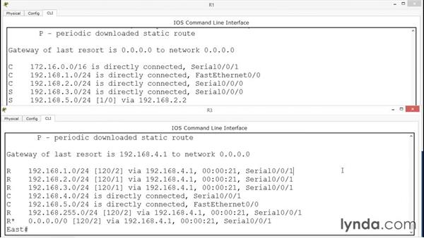 Displaying route configuration: Up and Running with Cisco CLI Router Configuration