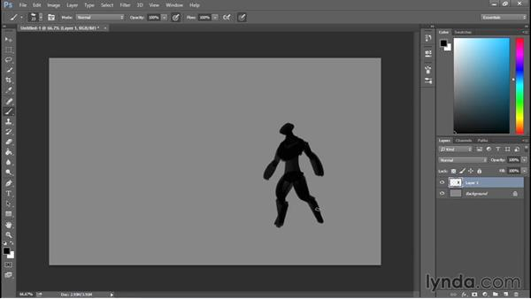 Sketching silhouettes in Photoshop: Sculpting a Creature with ZBrush and Photoshop