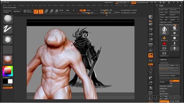 Prioritizing forms and detail: Sculpting a Creature with ZBrush and Photoshop