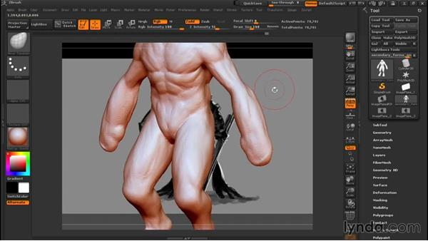 Working with gravity and movement: Sculpting a Creature with ZBrush and Photoshop