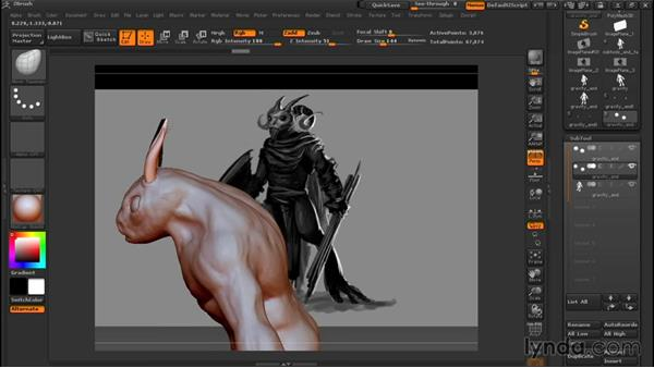 Adding eyes, horns, and fingers: Sculpting a Creature with ZBrush and Photoshop