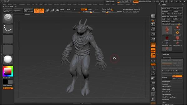 Introducing the Transpose Master: Sculpting a Creature with ZBrush and Photoshop