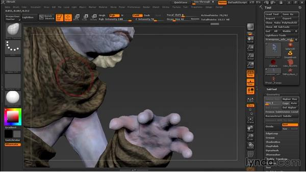 Finishing touches: Sculpting a Creature with ZBrush and Photoshop