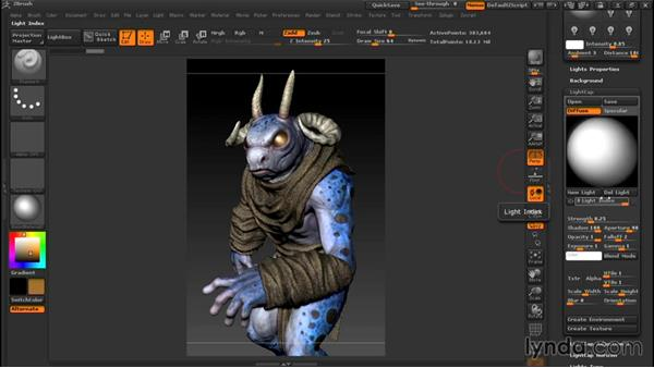 Lighting terminology and purpose: Sculpting a Creature with ZBrush and Photoshop