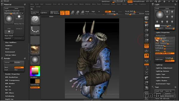 HDRI lighting: Sculpting a Creature with ZBrush and Photoshop