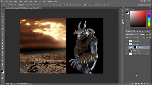 Creating a background: Sculpting a Creature with ZBrush and Photoshop