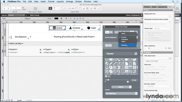Adding button bars to your layouts: FileMaker 14 Platform New Features