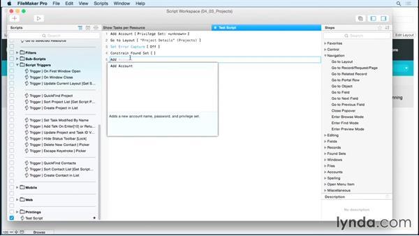 Using the Script Editing pane: FileMaker 14 Platform New Features