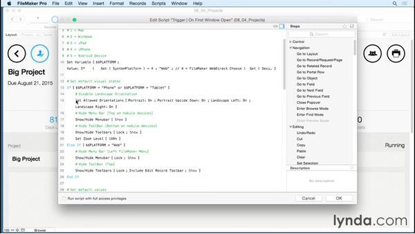Locking screen orientation: FileMaker 14 Platform New Features