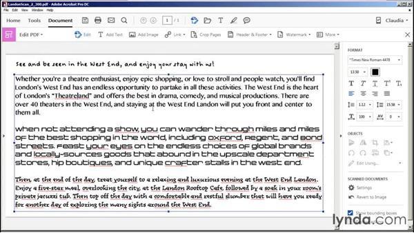Editing scanned documents: Acrobat DC Essential Training