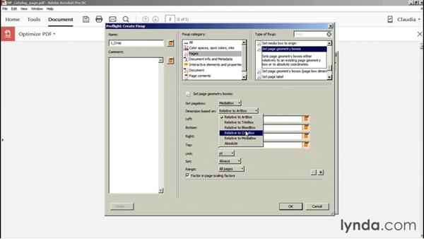 Cropping pages: Acrobat DC Essential Training