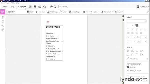 Using hyperlinks for document navigation: Acrobat DC Essential Training