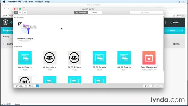 Touring the Launch Center: FileMaker Pro 14 Essential Training