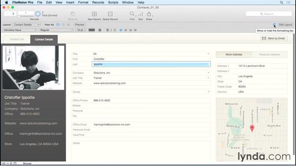 Exploring the interface: FileMaker Pro 14 Essential Training