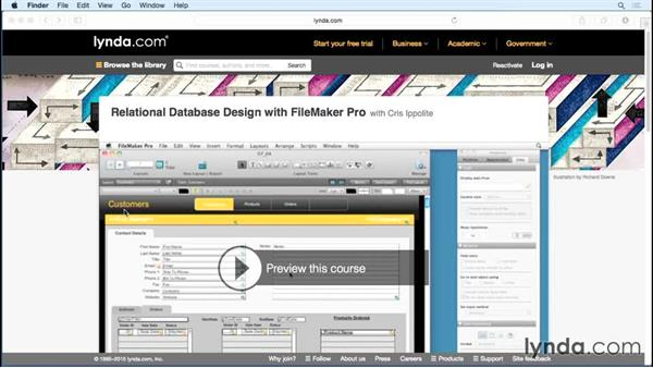A message about relationships: FileMaker Pro 14 Essential Training