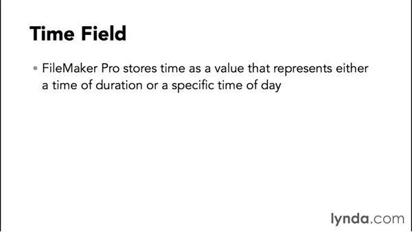 Understanding field types: FileMaker Pro 14 Essential Training
