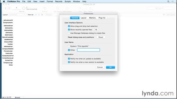 Using field auto-enter options: FileMaker Pro 14 Essential Training