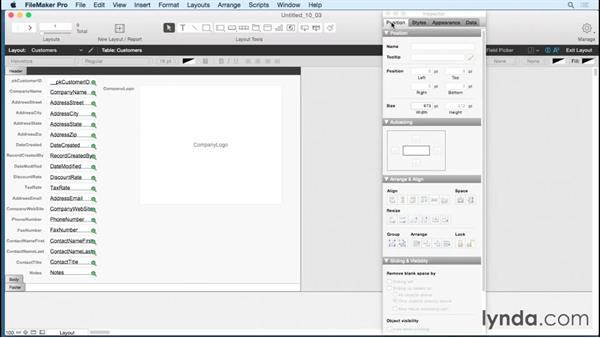 Previewing the Inspector: FileMaker Pro 14 Essential Training