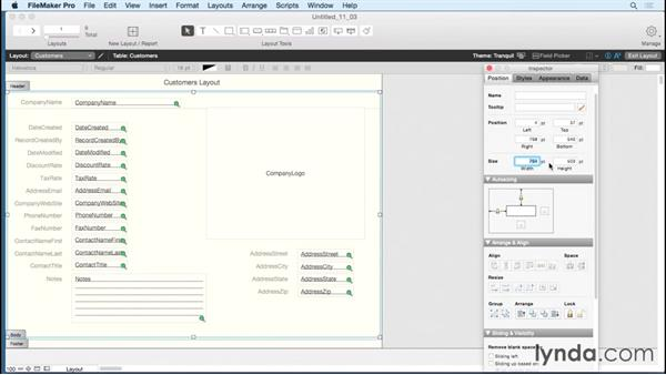 Working with shapes in your layouts: FileMaker Pro 14 Essential Training