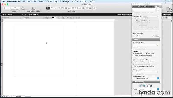 Previewing pages and print options: FileMaker Pro 14 Essential Training