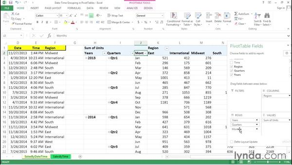 Using date and time as metrics in a PivotTable: Excel Tips Weekly