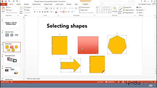 Tips for working with multiple shapes efficiently: Using Office Shapes and SmartArt to Enhance Business Documents